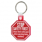 Promotional products: Stop sign soft keytag
