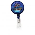 Promotional products: Round Domed Retractable Badge Holder with Alligator Clip