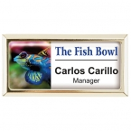 Promotional products: Rectangle Beveled Name Badge (Jewelers Pin)