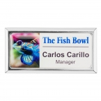 Promotional products: Rectangle Beveled Name Badge (Magnet Bar)