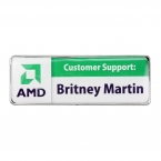 Promotional products: Rectangle Name Badge (Jewelers Pin)