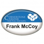 Promotional products: Oval Name Badge (Jewelers Pin)