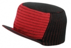 Promotional products: Ultra soft acrylic trucker knit 2-tone beanie with brim