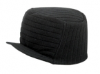 Promotional products: Solid acrylic trucker beanie jacquard knit with brim