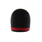 Promotional products: Acrylic knit toque with contrast color stripe
