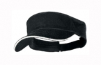 Promotional products: Brushed cotton twill visor / sandwich peak