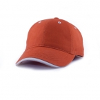 Promotional products: Micro-brushed cotton twill cap with contrast lip peak
