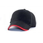 Promotional products: Heavy weight brushed cotton cap, half-wave sandwich peak
