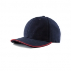 Promotional products: Brushed cotton twill cap/contrast color sandwich piping
