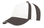 Promotional products: Collegiate stripe chino twill cap