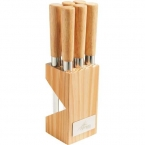 Promotional products: CLEARANCE:6-Piece Steak Knife Block Set