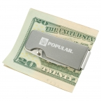 Promotional products: Flat Single Blade Knife Money Clip