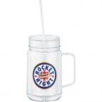 Promotional products: CLEARANCE:Game Day Mason Jar Mug 24oz