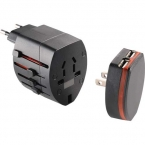 Promotional products: World Travel Adapter with USB Ports