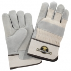 Promotional products: Safety Works Double Palm Leather Gloves White Cuff