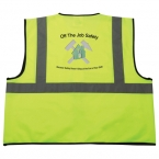 Promotional products: Safety Works Hi-Viz Lime Green Class 2 Safety Vest