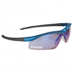 Promotional products: Safety Works DallasBlue® Mirrored Safety Glasses
