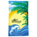 Promotional products: 14 lb./doz. Beach Scene Beach Towel