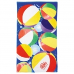 Promotional products: 14 lb./doz. Beach Ball Beach Towel