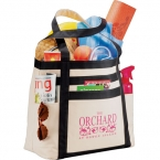 Promotional products: CLEARANCE:Rugby Stripe Boat Tote (hunter green)