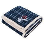 Promotional products: Field & Co. Plaid Sherpa Blanket