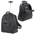 Promotional products: CLEARANCE:Navigator Deluxe Rolling Backpack