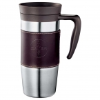 Promotional products: Cutter & Buck® American Classic Leather Mug 14oz