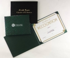 Promotional products: Traditional certificate covers