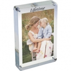 Promotional products: 4x6 two sided magnetic acrylic frame