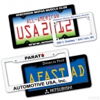 Promotional products: Motorcycle license plate frames