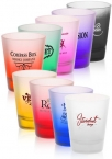 Promotional products: 2oz colored frosted shot glasses