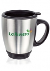 Promotional products: 16 oz camilla stainless steel bistro mugs