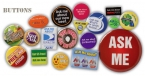 Promotional products: Celluloid round buttons