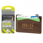 Promotional products: Travelon Safe Id Leather Card Sleeve