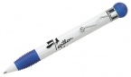 Promotional products: White barrel rubber stress ball push pen