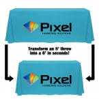 Promotional products: Digital convertible table throw - 6ft/8ft