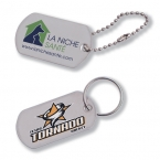 Promotional products: Dog tag key chain