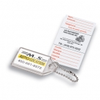 Promotional products: Soft vinyl i.d. key tag