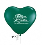 Promotional products: Heart shape biodegradable latex balloons