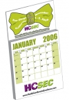 Promotional products: Custom : magnet with custom 12 page calendar