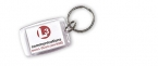 Promotional products: Key-ring with window