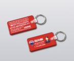 Promotional products: Flexible key-rings, rectangle