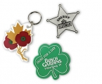Promotional products: Custom-made badges or key-rings