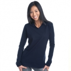 Promotional products: Ladies V-Neck Cotton Spandex Long Sleeve