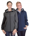 Promotional products: Ladies Hooded 3 Layer Bonded Soft Shell Jacket With Lining