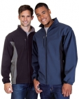 Promotional products: Mens Contrast 3 Layer Fleece Bonded Soft Shell Jacket