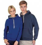 Promotional products: Pullover Pre Washed Contrast Hooded Sweatshirt