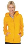 Promotional products: Ladies Full Zip Pre Washed Hooded Sweatshirt