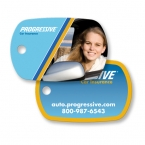 Promotional products: Key tag - standard oval - full color