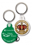 Promotional products: Key Tag - Small Round With Tab - Spot Color